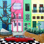 2012: Plaza en La Habana - Óleo sobre lienzo - 100 x 100 cm