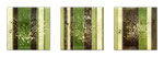 Bushes - Mixed Media auf Holz mit Epoxidharz - 3x (20 x 20 cm)