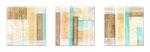 Driftwood - Mixed Media auf Holz mit Epoxidharz - 3x (20 x 20 cm)