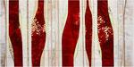Red Flowers - rechter Teil 60 x 120 cm