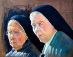 2005: Gesichtsstudie Nonnen - Oil on canvas - 70 x 90 cm