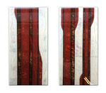 Red Earth of Mallorca I - Técnica mixta sobre madera con resina epoxi - 2x (60 x 30 cm)