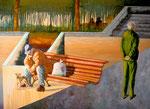 2005: Waiting in the Afternoon - Öl auf Leinwand - 100 x 140 cm