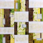 Mediterranean Winter - Mixed Media on wood with epoxy resin - 3x (230 x 40 cm)