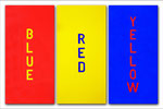 2011: BlUE RED YELLOW II - Acrilic on canvas - 3x(100 x 50 cm)