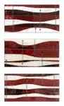 Red Earth of Mallorca II -Técnica mixta sobre madera con resina epoxi  - 3x (40 x 20 cm)