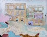 2013: Fachadas en La Habana -Técnica mixta sobre lienzo - 120 x 150 cm