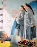 2005: wehwehweh lieber Gott komm - Oil on canvas - 162 x 130 cm