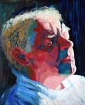 2006: Valentino B. in weissem Hemd - Óleo sobre lienzo - 100 x 81 cm