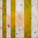 Birds flying free - Técnica mixta sobre madera con resina epoxi  - 40 x 40 cm