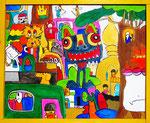 『たいらんどの国 まちNo.12』Oil painting F20 727 ×606   Copyright ©2012 U-1 `s nezumi13 All Rights Reserved.