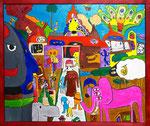 『あんこーる国 まちNo.11』Oil painting F30 910 ×727   Copyright ©2012 U-1 `s nezumi13 All Rights Reserved.