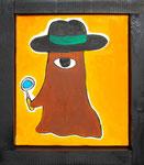 『探偵局長』Oil painting F3 273 ×220   Copyright ©2012 U-1 `s nezumi13 All Rights Reserved.
