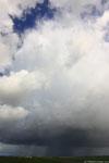 Cumulus congestus devenant cumulonimbus et donnant de l'orage par la suite