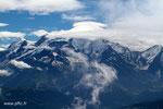Le Mont Blanc avec son sempiternel chapeau de nuages