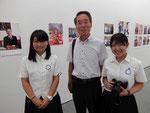 明和町長と記念写真