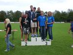 Als Team erreichten die Memminger Martin, Edi und Felix einen guten 3. Platz