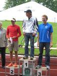 Die Gesamtsieger: Christian Brader (2:05:36), Christian Nordhaus (2:09:53), Martin Schädle (2:10:08)