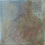 Im Bad 2, 2009_______ 20x20Acryl, Papier, Gips, Sand auf Leinwand