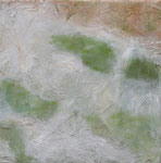 Camargue par terre 3, 08/2007 _____ 40x40 acrylic, sand, grass on cotton