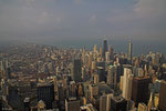 Blick von Willis Tower (ehemals Sears Tower) Chicago, September 2010