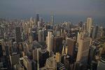 Blick von Willis Tower (ehemals Sears Tower) Chicago, September 2010