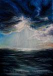 Wann reißt der Himmel auf? - Acryl auf Leinwand - 50x70 cm - 2012 (in Privatbesitz)