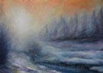 Winterstimmung - Acryl auf Leinwand - 50x70 cm - 2013 (in Privatbesitz)