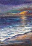 Sonnenuntergang (11) - Acryl auf Leinwand - 70x50 cm - 2019