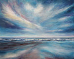 Himmel über dem Meer - Acryl auf Leinwand - 80x100 cm - 2013