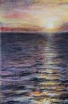 Sonnenuntergang (4) - Acryl auf Leinwand - 80x120 cm - 2016/2020
