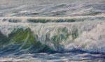 Welle (4) - Acryl auf Leiwand - 60x100 cm - 2015/2019 (in Privatbesitz)