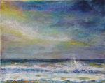 Blick aufs Meer (6)  - Acryl auf Lenwand - 40x50 cm - 2016/2019