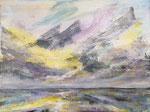 Kleine Meeresstimmung - Acryl auf Leinwand -18x24cm - 2020