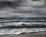 Brandung (16) - Acryl auf Leinwand - 40x50 cm - 2018  (in Privatbesitz)