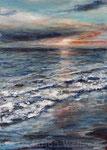 Sonnenuntergang (10) - Acryl auf Leinwand - 70x50 cm - 2019 (in Privatbesitz)