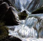 Wasserrauschen - Acryl auf Leinwand - 60x60 cm - 2011