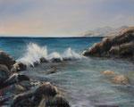 Am Mittelmeer - Acryl auf Leinwand - 80x100 cm - 2015