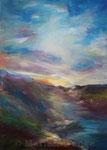 Hügellandschaft - Acryl auf Leinwand - 50x70 cm - 2013