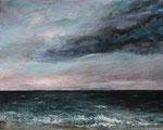 Blick aufs Meer (3) - Acryl auf Leinwand - 40x50 cm - 2015 (in Privatbessitz)