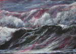 Brandung (7) - Acryl auf Leinwand - 50x70 cm - 2016/2019