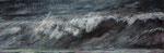 Welle (7) - Acryl auf Leinwand - 30x90 cm - 2016