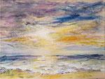 Kleiner Sonnenuntergang - Acryl auf Leinwand -18x24cm - 2020