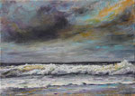 Brandung (18) - Acryl auf Leinwand - 50x70 cm - 2019