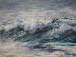 Welle (5) - Acryl auf Leinwand - 30x40 cm - 2015