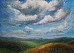 Wolkenfelder (2) - Acryl auf Leinwand- 50x70 cm - 2013