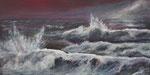 Stürmisches Meer - Acryl auf Leinwand - 50x100 cm - 2014 (in Privatbesitz)