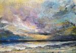 Himmel über dem Meer (6) - Acryl auf Leinwand - 50x70 cm - 2021 (reserviert)