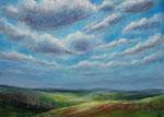 Wolkenfelder (1) - Acryl auf Leinwand - 50x70 cm - 2013