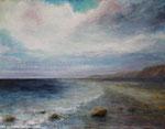 Am Meer (9) - Acryl auf Leinwand - 70x90 cm - 2013/2017  (in Privatbesitz)